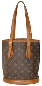 Louis Vuitton Monogram Bucket Pm Tote in Brown