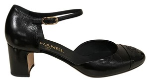 Chanel Calfskin Leather Ankle Kitten black Pumps