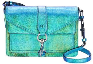 Rebecca Minkoff Leather Coach Hologram Cross Body Bag
