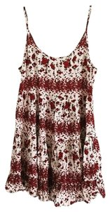 Brandy Melville short dress Red, White, Black Comfortable Short Rose on Tradesy