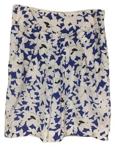 Anthropologie Mini Skirt Blue, White, Black