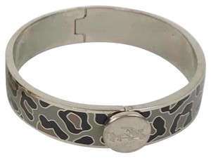 Coach COACH Snow Leopard Ocelot Silver Gray Black Bangle