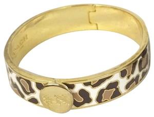 Coach COACH Leopard Ocelot Gold Brown Black Bangle