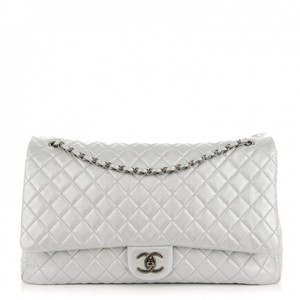 Chanel Xxl Classic Airlines Silver Travel Bag
