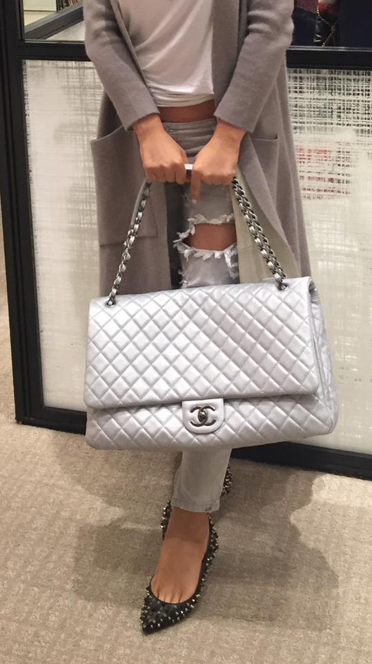 2114c211a058 Chanel Xxl Classic Airlines Silver Travel Bag Image 11. 123456789101112