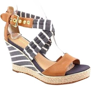 Sperry blue and white Wedges