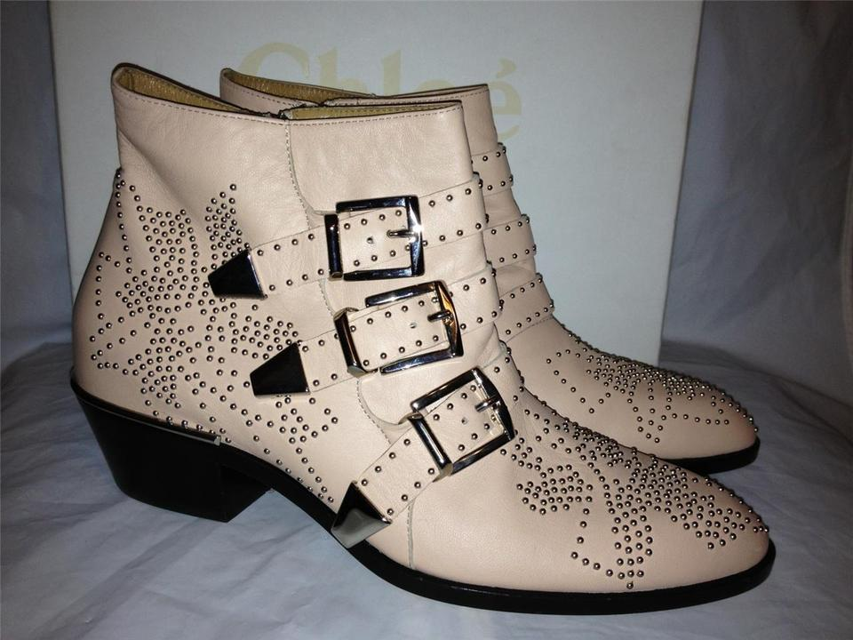 Susanna Cipria Boots Ankle Buckled Leather Suzanna Booties Chloé Studded wSEP7qq