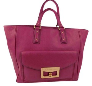 Marc by Marc Jacobs Leather Tote in pink