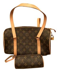 Louis Vuitton Monogram Papillon Barrel Barrell Papillon 30 Satchel in Brown