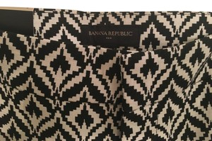 Banana Republic Designer Graphic Dress Shorts Black/White
