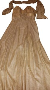 Celeb Gold Maxi Dress by Poly Fashion