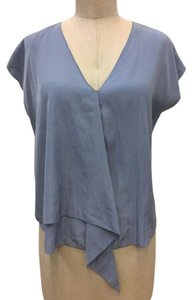 Rachel Roy Ruffle Powder Top Blue