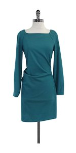 Diane von Furstenberg short dress Teal Wool Long Sleeve on Tradesy