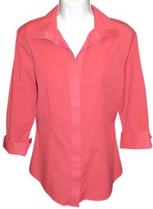 Talbots 3/4 Sleeve Stretch Top DUSTY ROSE
