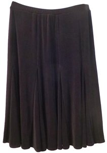 Chico's Travelers Slinky Flare Pleats Skirt black