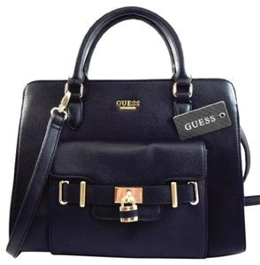 Guess Christa Crossbody Satchel in Black