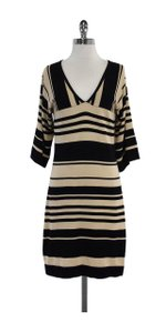 Trina Turk short dress Black Tan Striped Knit on Tradesy
