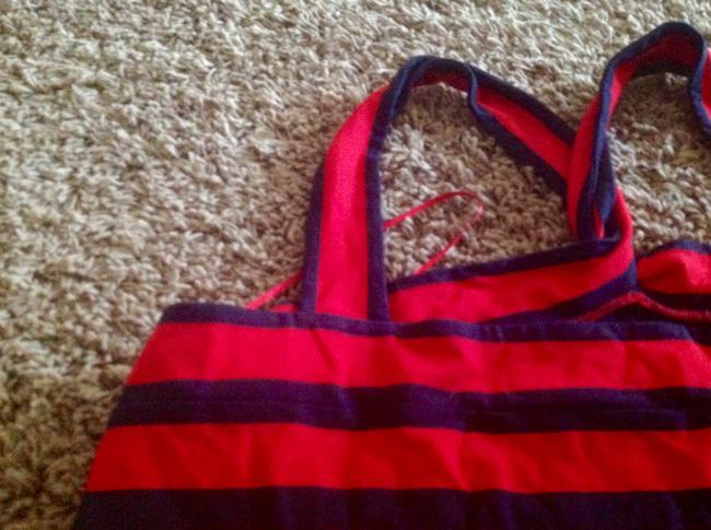 The Limited Great Low Price Like New Red and navy blue stripes Halter Top