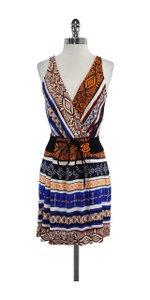Diane von Furstenberg short dress Multi Color Silk Belted on Tradesy