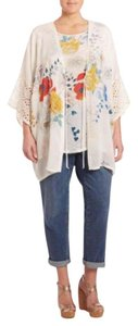 Johnny Was Bohemian Floral Lace Trim Festival Tunic