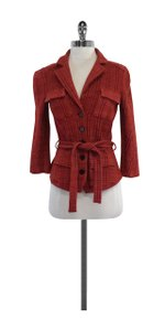 Diane von Furstenberg Red Pink Plaid Jacket