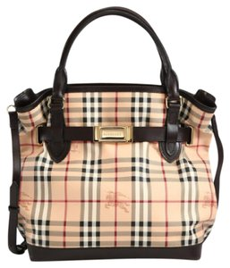 Burberry Tote in Chocolate/Check