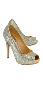 Badgley Mischka Gold Silver Metallic Pumps