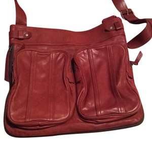 Bally red rust Messenger Bag