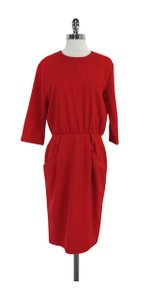Burberry short dress Red Wool 3/4 Sleeve on Tradesy