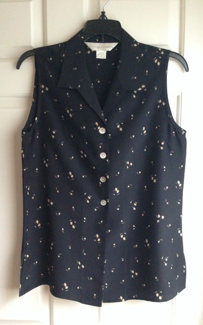 Casual Corner short dress Black and Gold Print on Tradesy