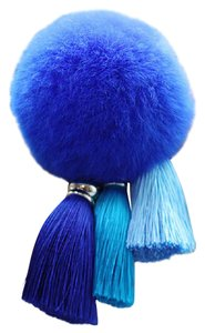 Other Blue Faux Fur Bag Charm