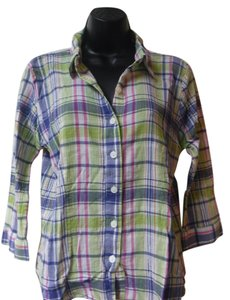 Christopher & Banks Top plaid