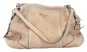 Prada Leather Large Satchel in Creamy Tan