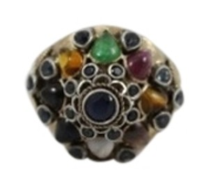 vintage Vintage 14K Gold Princess Multi Gemstones Ring