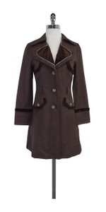 Marc Jacobs Brown Velvet Trench Coat
