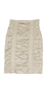 Nanette Lepore Nude Ruched Pencil Skirt