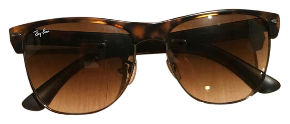 c46222b6a6 Ray-Ban Tortoise Brown Accents Clubmaster-oversized Rb4175 ...