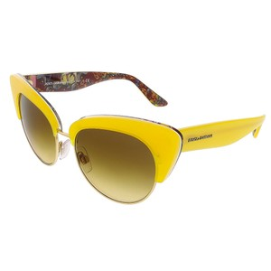 Dolce&Gabbana Dolce&Gabbana Yellow/Gold Cateye Sunglasses