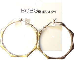 BCBGeneration antique gold hoop earrings