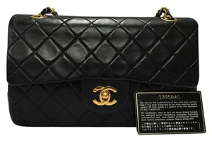 Chanel 2.55 Classic Flap Gold Hardware Lambskin Shoulder Bag