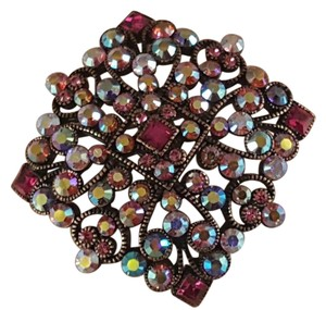 Joan Rivers Gorgeous Designer Brooch Rose Gold Plated Pink Crystals by Joan Rivers