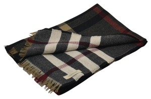 Burberry Reversible Wool Check Scarf