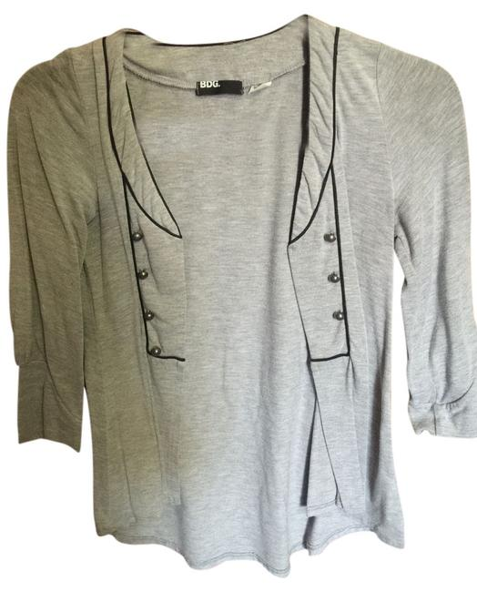 Urban Outfitters Top Grey and black