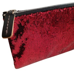 Marni Sparkly Glam Rough Luxe Red Hot Wristlet in hot red