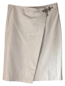 Ralph Lauren Leather Skirt White