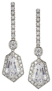 Kenneth Jay Lane Cz By Kenneth Jay Lane Dangle Framed Prom Pageant Red Carpet Earrings
