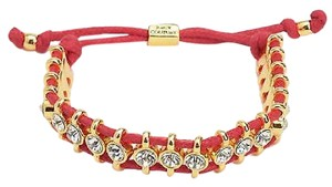 Juicy Couture Juicy Couture Black Label Gold Pave Crystal Red Friendship Bracelet Yjru8379