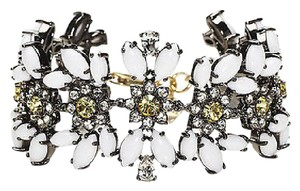 Juicy Couture Juicy Couture Black Label Gold White Gemstone Crystal Drama Bracelet