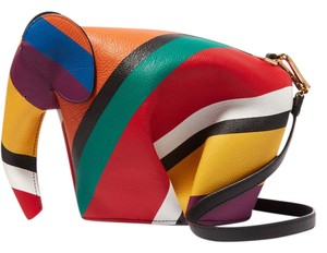 Loewe Elephant Mini Stripes Shoulder Bag