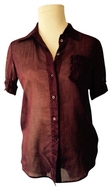 Item - Burgundy Blouse Size 4 (S)